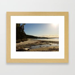 Water tracks Framed Art Print