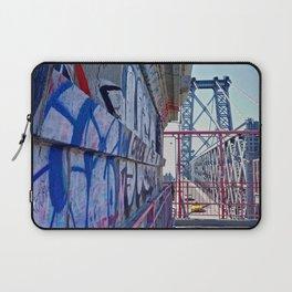 Williamsburg Bridge traffic Laptop Sleeve