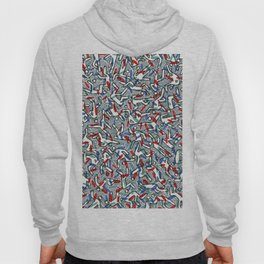 Busy Camouflaged Action Man by Nettwork2Design - Nettie Heron-Middleton Hoody