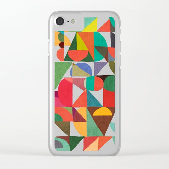 Color Blocks Clear iPhone Case