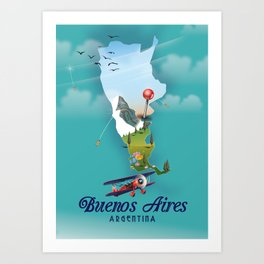 Buenos Aires, argentina travel poster Art Print