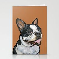 snoopy Stationery Cards featuring Snoopy the Boston Terrier by Pawblo Picasso
