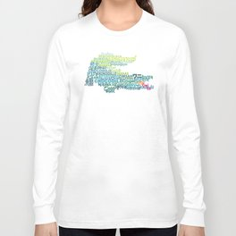 Crocodile in Different Languages Long Sleeve T-shirt