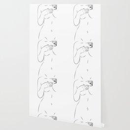 One Line Sexual Printable, Nude Female Body, Minimalist Naked Art, Sensual Erotic Prints Wallpaper
