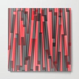 Geometric Red and Black Painting Metal Print