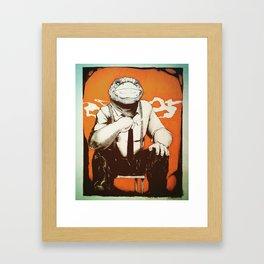 Detective Frog Framed Art Print