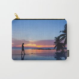 Infinite pool sunset walk Carry-All Pouch