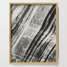 Abstract Marble - Black & Cream Serving Tray