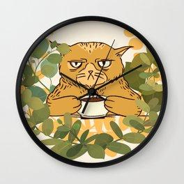 Not A Morning Kitten Wall Clock