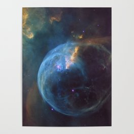 Bubble Nebula In Space Poster