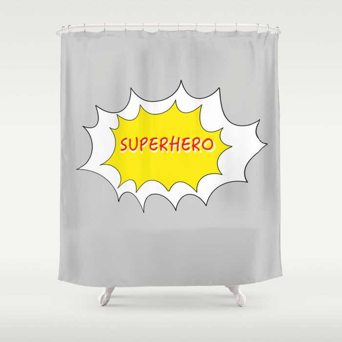 SUPERHERO Shower Curtain By Minimal Design