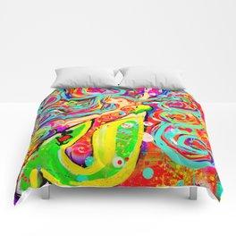 Tattooed Mermaid Comforters