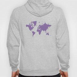 World with no Borders - purple Hoody