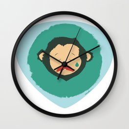 Sad Monkey-Bear Wall Clock