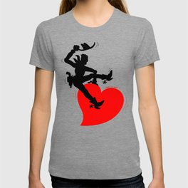 Cowboy Riding a Wild Heart T-shirt