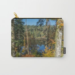 Lake in French forest Carry-All Pouch