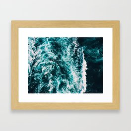 Deep Blue Waters Framed Art Print