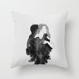 You are my peaceful heaven b&w. Throw Pillow