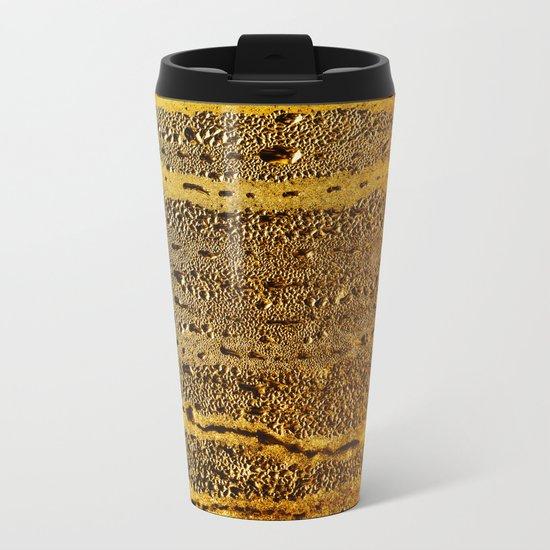 golden abstract Metal Travel Mug