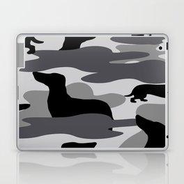 Grey Camo Weiner Dogg Laptop & iPad Skin