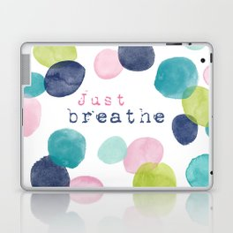 Just Breathe Watercolor Laptop & iPad Skin