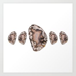 Natural Agate Cluster Art Print
