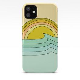 ride rainbows // retro surf soul // art by surfy birdy iPhone Case