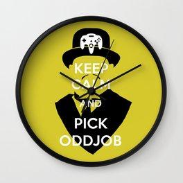 Pick Oddjob Wall Clock