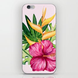Tropical Hibiscus Summer Bouquet iPhone Skin