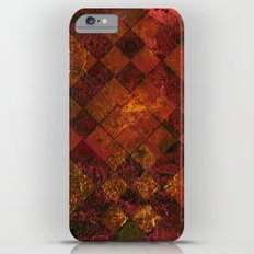 Old Tile - maroon and gold iPhone 6s Plus Slim Case