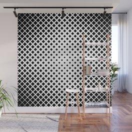 op art - black and white diamond grid Wall Mural