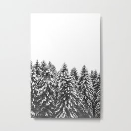 White Snow Forest No1 Metal Print