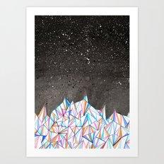 Crystal City at Night Art Print