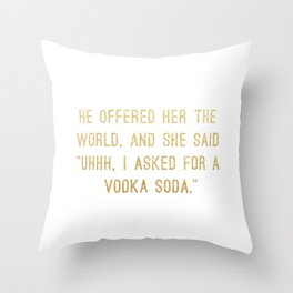 Vodka Soda Throw Pillow