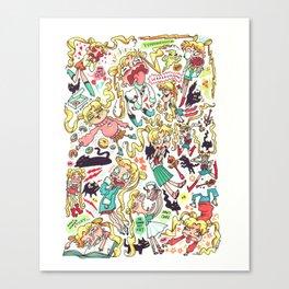 "Sailor Moon- ""Doodle Moon"" Canvas Print"