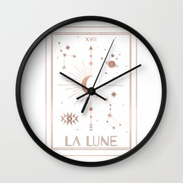 La Lune or The Moon White Edition Wall Clock
