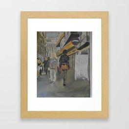 He is Strolling in Amsterdam 1 Framed Art Print