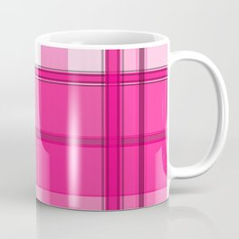 Shades of Pink and White Plaid Coffee Mug