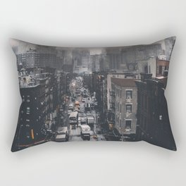 New York City Mist Rectangular Pillow