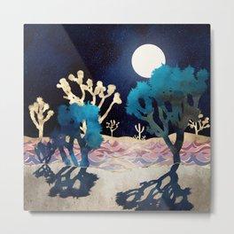 Desert Lake Moonlight Metal Print