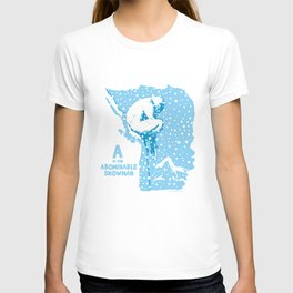 A is for Abominable Snowman T-shirt