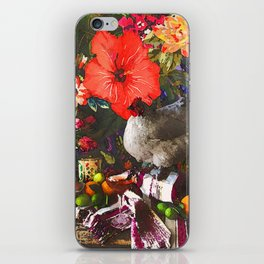Still Life with Fat Chicken (Watercolor) iPhone Skin