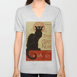 BLACK CAT Tournee du Chat Noir Unisex V-Neck