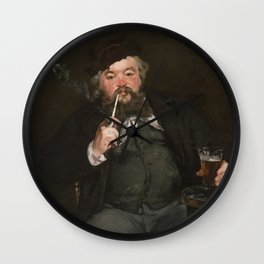 Edouard Manet - Happy Beer Drinker Wall Clock