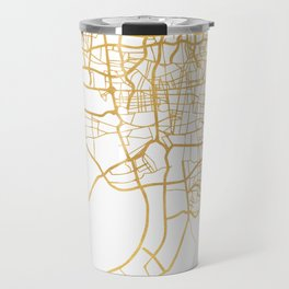 TEHRAN IRAN CITY STREET MAP ART Travel Mug