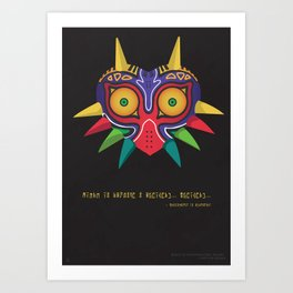 Belive in your strenghts - Majora's Mask Art Print