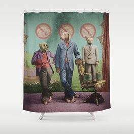 The Three Distinguished Members of the Committee to Handle the Squirrel Problem Shower Curtain