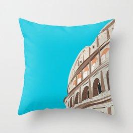 Rome, Italy Colosseum Throw Pillow