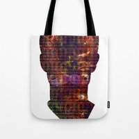 louis armstrong Tote Bags featuring Armstrong by Red 99