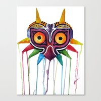 majoras mask Canvas Prints featuring majoras mask by Haily Melendez